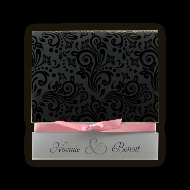 faire-part-mariage-arabesques-vernis-noir_ruban-rose-ju-3087
